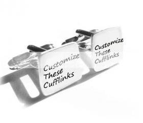 Customize Men Cufflinks Hand Stamped personalized Wedding keepsake gift cuff links birthday anniversary