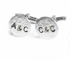 Initial Cufflinks Personalized keepsake gift for him guys men father cuff links Wedding Birthday anniversary