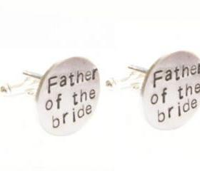 Father of the bride Groom Cufflinks Hand Stamped Men Personalized gift custom cuff links wedding birthday jscjewelry abellagifts
