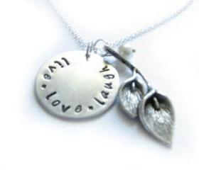 Calla Lily Necklace Hand Stamped pendant Engraved Jewelry Gift Birthday Wedding mother